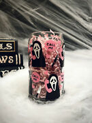 Scream Movie Scream Glass Ghost Face Beer Can Glass Soda Can Libbey Halloween