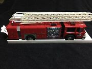 Hess 1986 Toy Fire Truck Bank Rare Red Grill Mint In Box