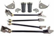 Weld On Triangulated 4 Link Kit W/rear Brackets Sleeve Bags Air Ride Suspension