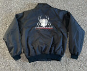 Spiderwire Tri-mountain Windbreaker Jacket Embroidered Size M Fishing Line Reel