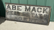 Vintage 1800andrsquos Wooden Real Estate Agent Sign Hand Painted