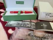 Montegrappa Limited Edition Extra 1930 Red Celluloid 18k M Nib Fountain Pen Ex