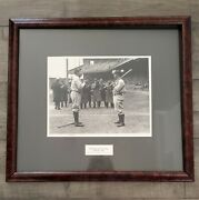 1928 Babe Ruth And Lou Gehrig In Shibe Park - Bruce Murray Photo - Coa