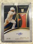 2020 Panini Immaculate /99 Abraham Toro 140 Rpa Rookie Patch Auto