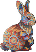 Kofun Wooden Puzzle For Adults Kids, Rabbit Jigsaw Puzzles With 200 Animal Shape