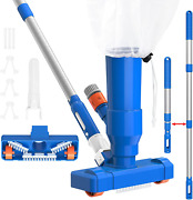 34'' Portable Pool Vacuum Jet Cleaner Pond With Brush Leaf Bag And Pole Ideal