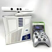 Limited Edition Microsoft Xbox 360 R2d2 Star Wars Console W/kinect/games Bundle