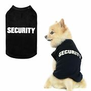 Bingpet Security Dog Shirt Clothes For Pet Puppy T-shirts Dogs Costumes Cat C...