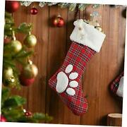 Christmas Stocking 2021 Ornaments Personalized Dog Pattern Footprints