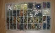 Lot Of Over 40 Bass Fishing Jigs Flipping, Pitching, Swimming Jig + Tackle Box