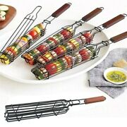 Kabob Grilling Baskets Nonstick Grill Baskets For Outdoor Grilling With Handle
