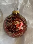 West Germany Christmas Ornament Gold Glitter