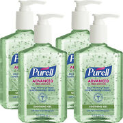 Purell Instant Hand Sanitizer With Aloe, 8 Fl Oz 236 Ml 4-pack 9674-12