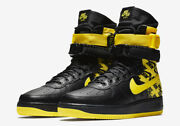 Rare Size 19 Ds Brand New Nike Sf Air Force 1 High Black Dynamic Yellow