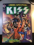Kiss Marvel Super Special 1978 2nd Comic Book With Poster🔥