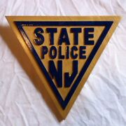 Police New Jersey State 3d Routed Wood Patch Plaque Sign Custom