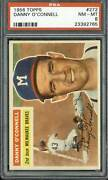 1956 Topps 272 Danny O'connell - Psa 8