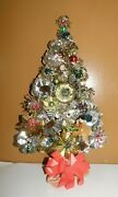 Unique Christmas Tree Wall Decoration Made From Vintage Metal Light Reflectors