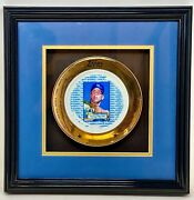 Mickey Mantel - Topps Limited Edition 200 Collectors Plate - With Autograph