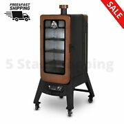 3 Series Pellet Vertical Smoker Double Walled Insulation Large Front Window Led