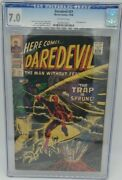 Daredevil 21 7.0 Cgc Off / White 10/66 Stan Lee,gene Colan Cover Owl Appearance