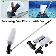 Swimming Pool Vacuum Cleaner Set Pond Spa Hot Tub Outdoor Robot Cleaning 120cm