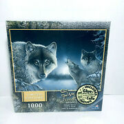 Midnight Wolves Sam Timm Limited Edition 1000 Pc Jigsaw Puzzle Roseart