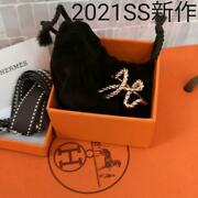 Final Price Cut New Hermes Scarf Ring Code H Pink Gold Sold Out In Japan