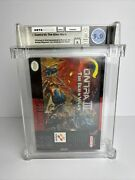 Nintendo Snes Contra 3 The Alien Wars New And Sealed Graded Wata 9.0 Seal A