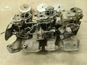 1957-1958 Olds J2 Tri-power 3x2 Intake Manifold And Rochester Carbs W/linkage. P/u