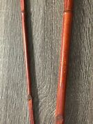 Vintage Primitive Cane Bamboo Fishing Fly Rod Huck Fin Type Worm Ready 8ft Long