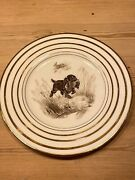 Antique Spaniel Dog Plate Wedgwood Marguerite Kirmse Hand Painted 1930