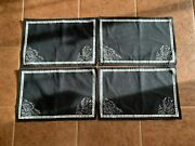 New Disney Cloth Placemat Set Of 4 Beauty And The Beast Be Our Guest Chalkboard