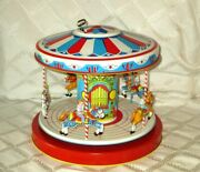 1950's J.chein Merry Go Round- Carousel Tin Litho Wind-up Toy-high Grade Org
