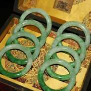 Antique Chinese Jade Bracelet Bracelet With Lacquer Box Set Of 8