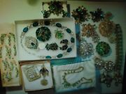Nice Jeweled Rhinestones Signed And Unsigned Mixed Vintage Costume Jewelry Lot 7