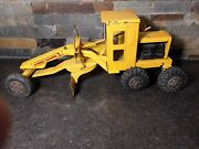 Vintage Marx Toys Power Grader Yellow Pressed Steel Toy Construction