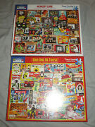 2 White Mountain Jigsaw Puzzle Lot 100 Pieces Memory Lane Brand New Had Those