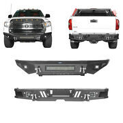Front Rear Bumper Combo W/winch Plate Led Lights For Toyota Tundra 14-21 3rd Gen