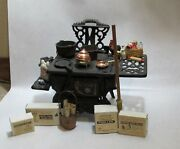 Crescent Brand Miniature Cast Iron Stove With Many Accesories