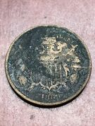 1869 Two Cents Copper Coin Philadelphia Mint Good Condition