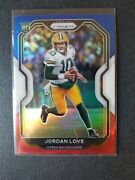 Jordan Love 2020 Prizm Red White And Blue Rookie Rc Sp 363 Green Bay Packers