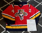 Florida Panthers Game Issued Nick Smith Jersey Size 56 With Coa
