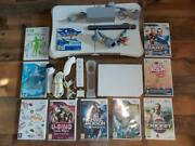 Nintendo Wii Console+10 Top Games Sports Resort-wii Fit Board-full Set-working