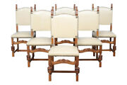 Charming Antique French Tudor Chairs Dining Chairs, Oak, 1920's 11623