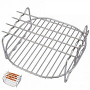 Durable Stainless Steel Metal Skewers Stands Baking Tray Bbq Rack Replacement