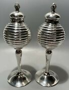 Deco Weidlich Brothers Wb Mfg Co Silver Plate Salt Pepper Shakers Circle 1920s