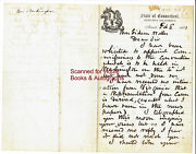 William A. Buckingham - Letter - Signed - 1861 - Attempt To Save The Union