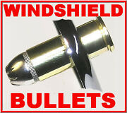 9 Nickel 44 Mag Bullet Bolts Plus Nut Covers Harley Windshield
