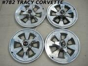 1965 Corvette Used Original Hubcaps W/spinners-driver Quality/set Of 4